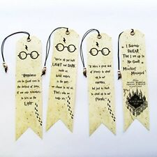Harry Potter, Harry Potter Bookmarks with Owl bead, Set of 4 pieces, Bookmarks