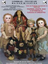 Catalogue de vente Poupées Jeux Automates 01/2014
