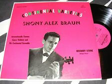 SHONY ALEX BRAUN Continental Varieties GYPSY VIOLIN Gregory Stone LP Impromptu