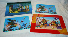 LOT OF 4 DISNEY LITHOGRAPHS, A BUG'S LIFE (2), STITCH THE MOVIE, ATLANTIS, NEW