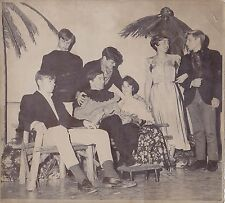Old Vintage Antique Photograph Group of Young Women & Men Dressed Up