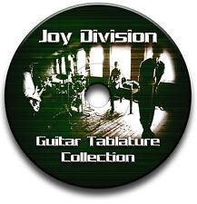 JOY DIVISION INDIE ALTERNATIVE ROCK GUITAR TABS TABLATURE SONG SOFTWARE CD