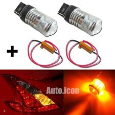 Amber 7440 LED Reflector Bulbs Kit For Nissan 350Z 370Z Rear Turn Signal Lights