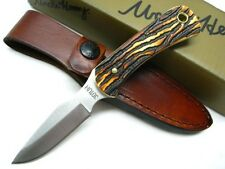 SCHRADE Uncle Henry DETAIL SKINNER Full Tang Fixed Blade Knife + Sheath! 301UH