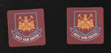 WEST HAM UNITED pack of Beer Mats Hammers & Boleyn Crest FREE POSTAGE UK