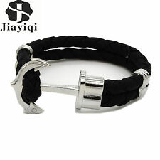 Accessories Jewelry Black Leather Bracelet Multilayer Braided Wristband For Men