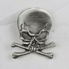 Biker Chopper Motorrad Skull Bones Totenkopf Knochen Pin Anstecker Anstecknadel