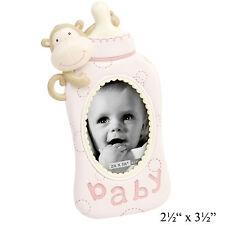 BABY bottle CON SCIMMIA ROSA non associate Photo Frame ~ New Baby Regalo cg898p