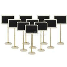 10 Rectangle Blackboard Chalkboard on Stand Placecard Wedding Table Number Sign