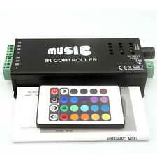 Music Sound Sensor RGB IR Controller 12V DC 10A 144W for LED Strip Light Rope