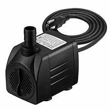 Sump Pumps Homasy 400GPH Submersible Pump 25W Fountain Water Pump with For Fish