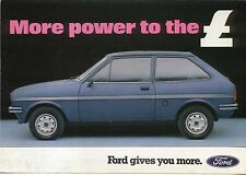 Ford Fiesta Mk 1 1300 L 1981 Original UK Sales Brochure Pub. No. FA524