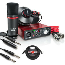 Focusrite Scarlett Solo Studio 2nd Recording Pack + Pro Tools First + Cable Kit
