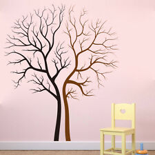 Black Brown Tree Branch Wall Sticker Decals Home Decor Art Removable Vinyl Mural
