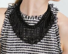ZARA BLACK CHAIN FRINGES NECKLACE BIB STATEMENT BLOGGERS FAV SOLD OUT!