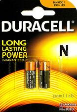 2x  N  1.5V   Duracell    MN9100  LR1 E90    Alkaline  batteries  ,  battery