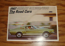 Original 1967 Ford Mustang Shelby GT 350 500 Foldout Sales Brochure 67