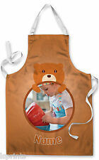 PERSONALISED PHOTO BEAR CHILDRENS APRON BAKING PAINTING WATER PLAY ARTS & CRAFTS