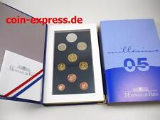 *** EURO KMS FRANKREICH 2005 PP Polierte Platte mit 5 € Pantheon France Coin Set