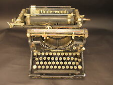 Vintage Underwood Standard Typewriter No. 5 For Parts or Repair