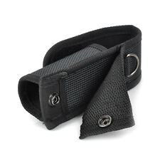 Black Nylon Holster Holder Belt Pouch Case for LED Flashlight Torch NEW
