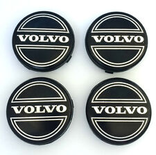 4x Black VOLVO 64mm Alloy Wheel Centre Caps C30 C70 S40 V50 S60 V60 V70 S80 XC90