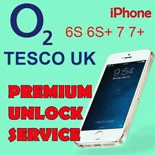 O2 TESCO UK PREMIUM UNLOCK Service iPhone 6s 6s+ 7 7+ Semi Blacklist