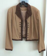 "CLASSIC DOUBLE D RANCHWEAR ""SIERRA JACKET"", HEMLOCK w/ BROWN SUEDE TRIM, LARGE"