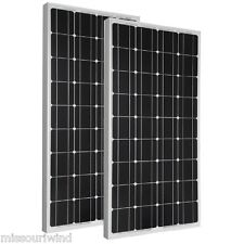 (2) Renogy 12 Volt 100 Watt Monocrystalline Photovoltaic PV Solar Panel Off Grid