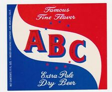 ABC Extra Pale Dry Beer Label