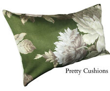Vintage Emerald Green Rose Antique Bolster Cushion Pillow Cover