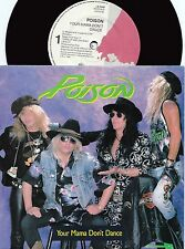 Poison ORIG OZ PS 45 Your mama don't dance NM '88 Hair metal Heavy Metal