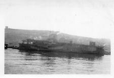DI662 Photographie photo vintage snapshot porte avion Bearn Oran marine