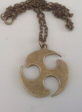 """Circle wheel tribal necklace,18"""",bronze,surf,mens,womens,casual"""
