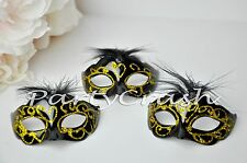 12 Black Small Mini Masquerade Mask Wedding Sweet 16 Party Decoration Favors
