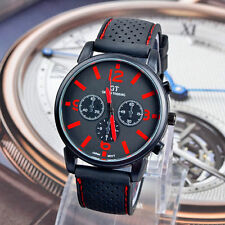 1PC Fashion Men Military Stainless Steel Sport Racing Quartz Analog Wrist Watch