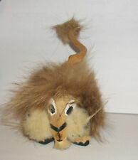 VTG PECK & PECK 5TH AVENUE NY TOY LION LEATHER FUR NEW YORK HIGH SOCIETY OLD NYC