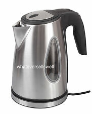 LOW WATTAGE 1.7ltr STAINLESS STEEL ELECTRIC CORDLESS KETTLE camping caravan fizz