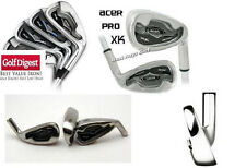 STIFF MENS ACER XK SERIES IRON SET 3-9 IRON+PITCHINGWEDGE: STAINLESS STEEL HEADS
