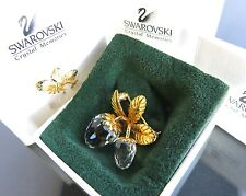 100% Authentic SWAROVSKI Crystal Fruits Motif Gold-Tone Pin Brooch With Box