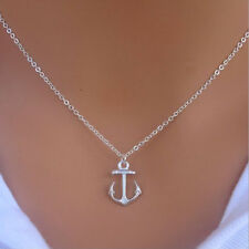 Elegant New Simple Designs Cute Anchor Silver Pendant Bib Necklace Jewelry