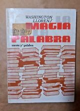 La Magia de la Palabra Por Washington Llorens Puerto Rico 1981