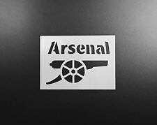 Arsenal FC Stencil Airbrush Wall Art Craft Painting Sport Football DIY Reusable