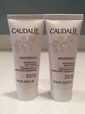 Caudalie Vinoperfect Radiance Serum. Travel Set of 2! 0.33x2= 0.66 oz Brand New!