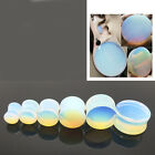 2x Opalite Ear Gauges Plug Organic Ear Tunnels Earlets Piercing Expander Jewelry