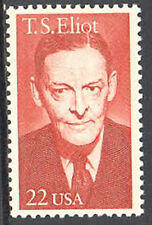 SC#2239 - 22c T. S. Eliot Single MNH