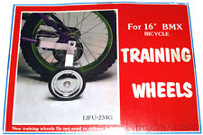 "Heavy Duty 1 pc Steel Bicycle Training Wheel Kit For 16"" Bikes NEW!"