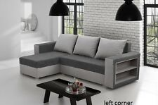 corner sofa bed brand new  storage left right grey fabrics shelves New shape!!