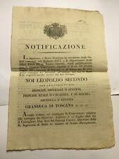 17093- Toscana -Lucca Accordo consegna disertori Granduca Toscana -Duca di Lucca