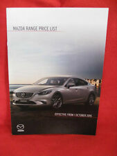 MAZDA Range UK Price List - Effective from 1/10/2015.